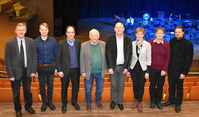 Meeting in Palanga (from left: Daugėla, Rupšlaukis, Waespi, Gregson, Dijkstra, Beinorienė, Petrikis, and Šileika)